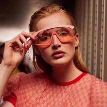MARC oversized sunglasses Women/men Gradient double color BRAND designer Sun glasses Luxury Trendy  Shades Ocean Pink