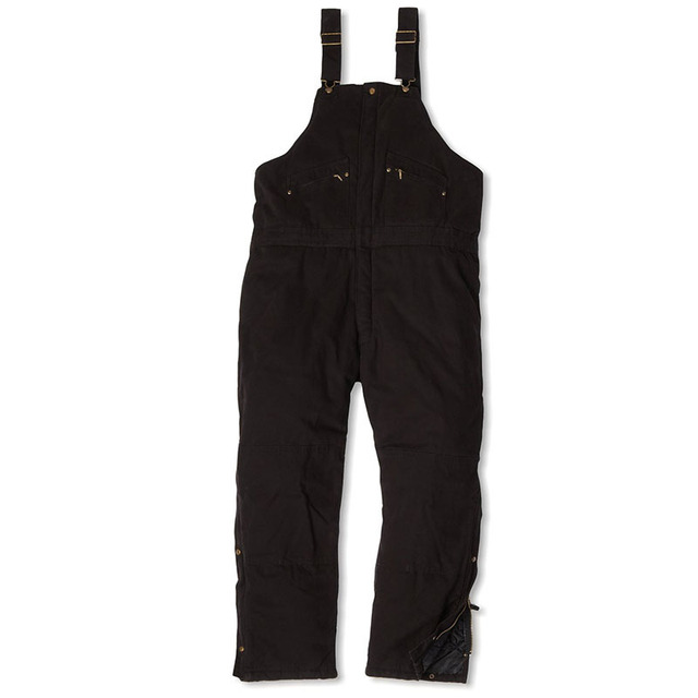 Bib overalls men thickening cotton padded work pants cold storage welding repair wear-resistant canvas sleeveless coveralls 4