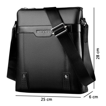 New Fashion PU Leather Men Messenger Casual Bag 6
