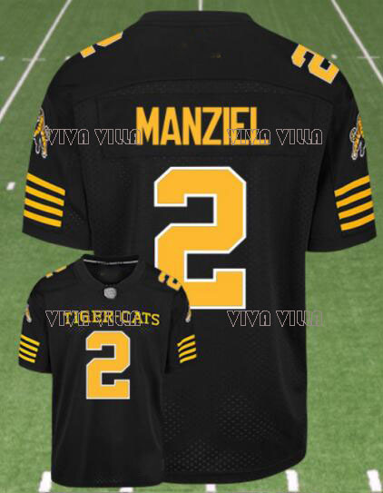 цена на Hamilton Tiger Cats Jersey 2 Johnny Manziel Custom Any Name Any Number Stitched American Football Jersey S-4XL Free Shipping