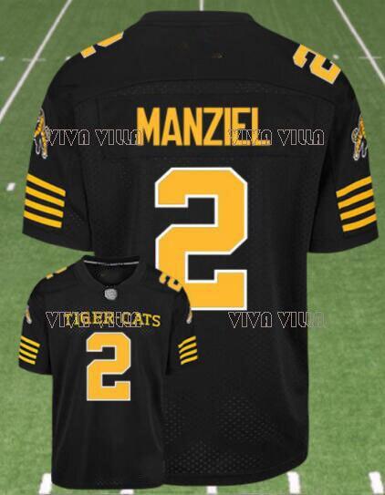 Hamilton Tiger catтрикотаж 2 Johnny Manziel на заказ любое имя любое количество сшиттрикотаж Американский футбол S-4XL Бесплатная доставка