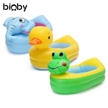 Inflatable Baby Bath Tub PVC Kids Bathtub Portable Cartoon Animal Washbowl Safety Thickening Baby Shower Newborns Swimming Pool
