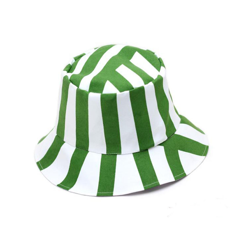 Listra verde e Branco Sandália-Cap chapéu Traje Bleach Kisuke Urahara Cosplay/Melancia Chapéu