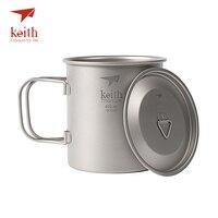 Keith Titanyum Katlama Kolu Ultralight Seyahat Kupalar Ile Açık Kamp Bardaklar Drinkware 300 ml/400 ml/500 ml/600 ml/900 ml Mevcut