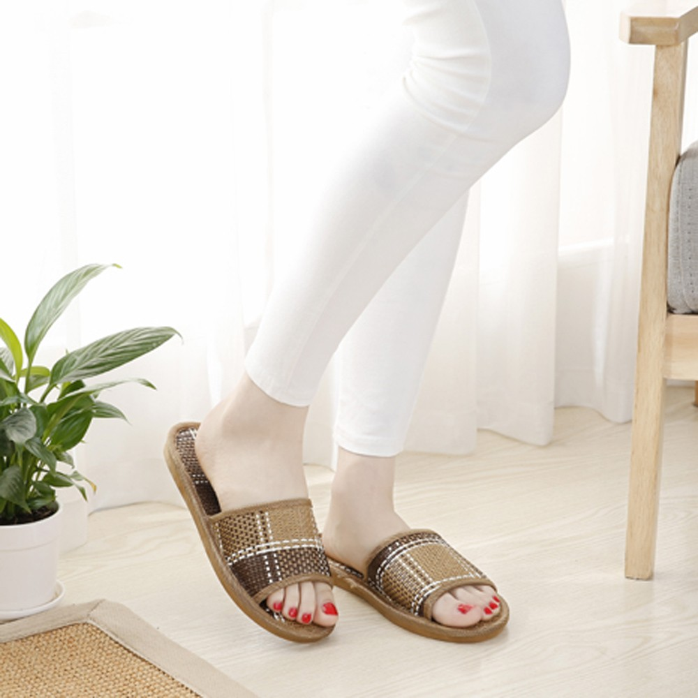 Unisex Cane Household Shoes Slippers Platform Flops Casual Sandals Ladies Wicker Mat Home Shoes Slippers pantuflas de mujerUnisex Cane Household Shoes Slippers Platform Flops Casual Sandals Ladies Wicker Mat Home Shoes Slippers pantuflas de mujer