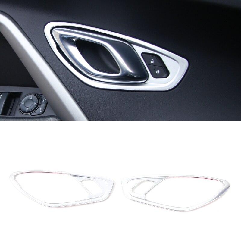 ABS En Plastique 2 pièces Argent/Rouge/Bleu Intérieur poignée de Porte Garniture Pour 2016 2017 Chevrolet Camaro