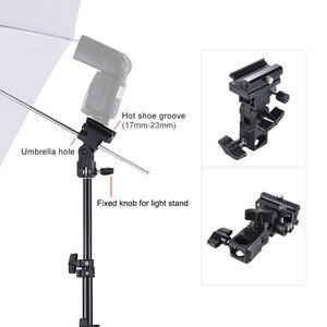 Image 3 - Andoer caméra Double Flash chaussure montage pivotant doux parapluie Kit doux parapluie + pied de lumière + Shoemount + support de Type B + sac de transport