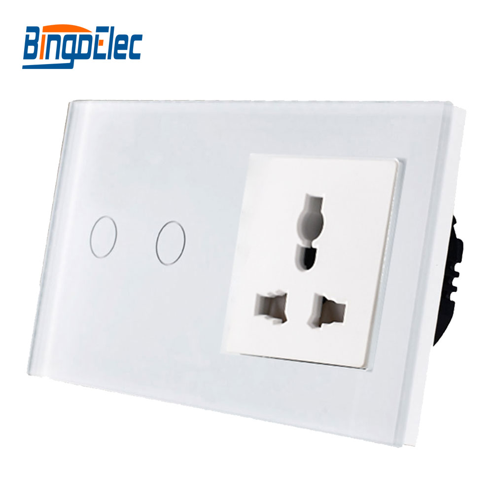 Hot Sale,Bingo touch light siwtch,Toughened glass panel,AC110-250V 13A universal wall socketHot Sale,Bingo touch light siwtch,Toughened glass panel,AC110-250V 13A universal wall socket