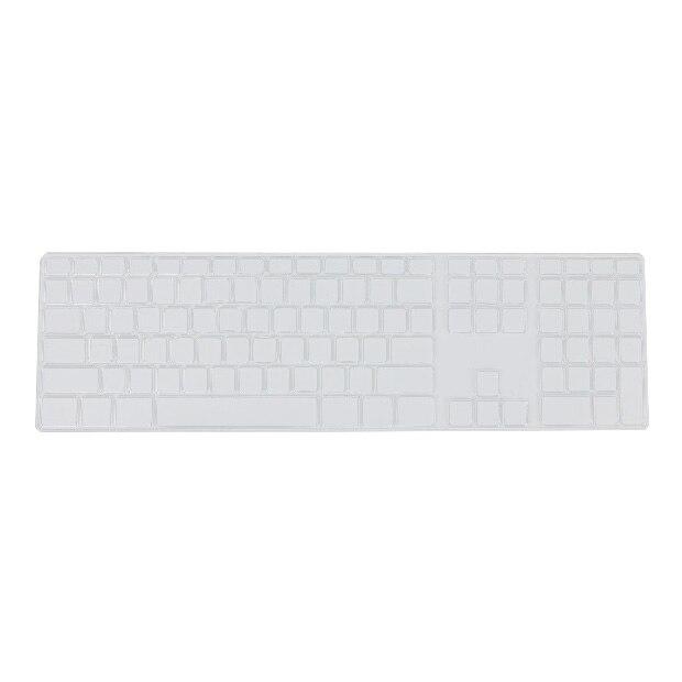 Силиконовые тонкие клавиатура кожного покрова протектор с цифровой клавиатурой для Apple iMac прозрачный