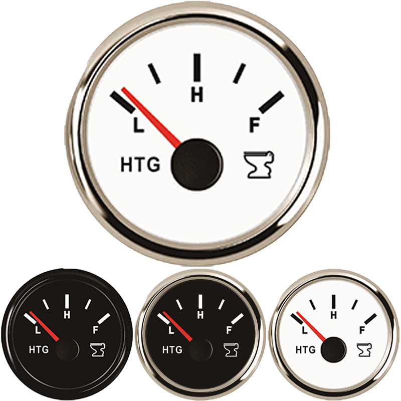 52mm Sewage Level Gauge Meter Indicator Boat Holding Tank Level fit Boat Ship Vessel 0 190ohm 240 33ohm 9 32V Car accessories in Water Temp Gauges from Automobiles Motorcycles
