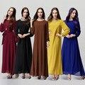 2017 Abaya Musulmán Vestido de Ropa para Las Mujeres Hijab Turco Vestido Largo Toga Dubai Kaftan Gasa Laies Femal Viste El Envío Libre