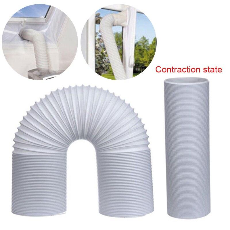 Convenient Hot 1.5M/2M Flexible Air Conditioner Exhaust Pipe Vent Hose Duct Outlet 130/150mm HY99 AU08