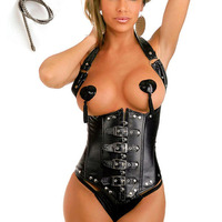 Leather Corset Underbust Corset Steampunk Waist Corsets And Bustiers Sexy Steampunk Clothing Gothic Corset Women Plus