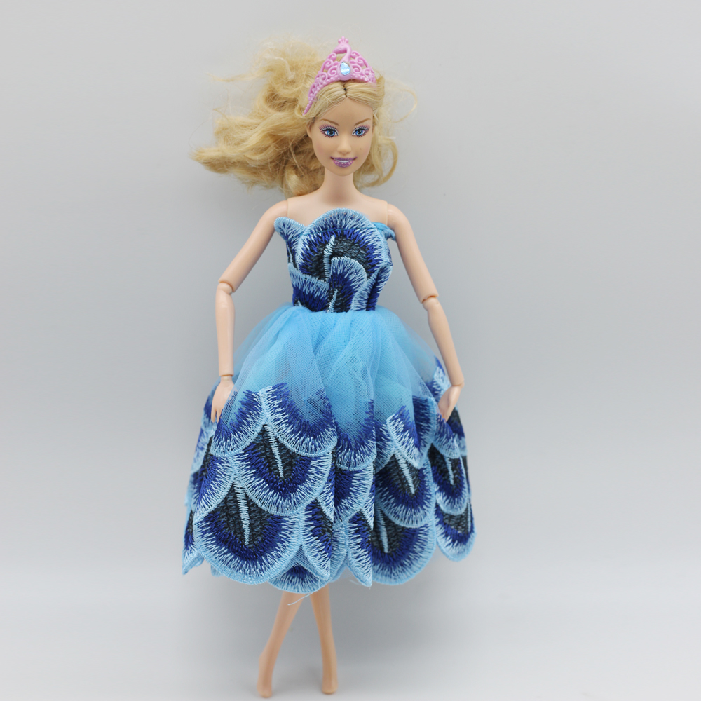 1 Items Tutu Ballerina Skirt For Barbie Doll quick Mini wedding ceremony gown free transport