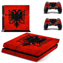 Flag of Greece decal PS4 Skin Sticker For Sony Playstation 4 Console +2Pcs Controllers 2 patterns