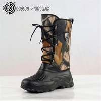 New Waterproof Snow Boots Men Non Slip Fishing Skiing Boots High Top Men Warm Snow Shoes
