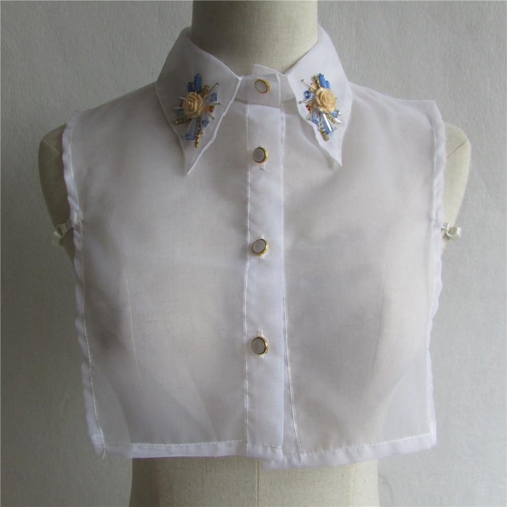 New Arrival Shirt Fake Collar white organza Collars Women ...