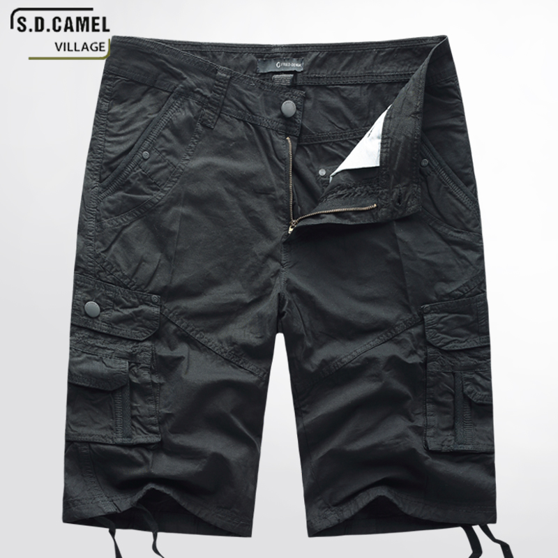 S.D.CAMEL Mens Military Cargo Shorts 2018 Brand New Men Cotton Loose Work Casual Vintage Short Pants Plus Size yellow 40 jp1088