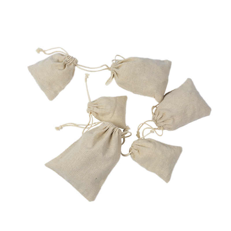 ผ้าลินินเครื่องประดับกระเป๋าเก็บอาหารกระเป๋าแพคเกจกระเป๋าห้องครัว Sundries ชาขนมถั่วถุงเก็บกระเป๋าเครื่องสำอางค์