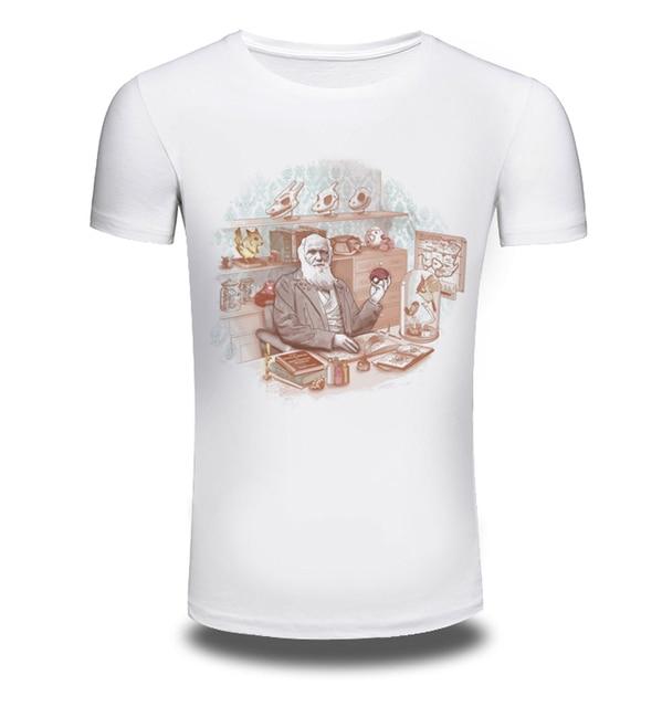 f88559e3b91e Supreme Nuovo Mens di Estate T-Shirt Pocket Mostro Old men Stampato Casual  uomo Slim