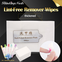 BlinkingNails Lint Free Nail Wipes for Nail Polish Remover Polish Gel UV Nail Cotton Lint's Free Wipes with Fiber Cleaner Pads