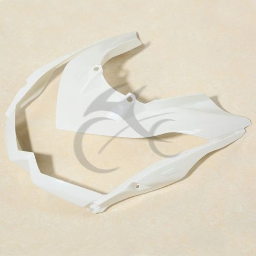 Motor Unpainted White Upper Front Fairing Cowl Nose For Kawasaki Z1000 10-13 12 motorcycle abs injection fairings for upper front head fairing cowl nose cowl for kawasaki z1000 2010 2013 unpainted