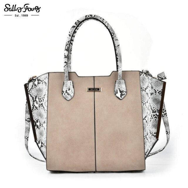 2017 Sally Young International Brand Fashion Patchwork Tote Women Messenger Bag Vintage Lady Shoulder Handbags Tze