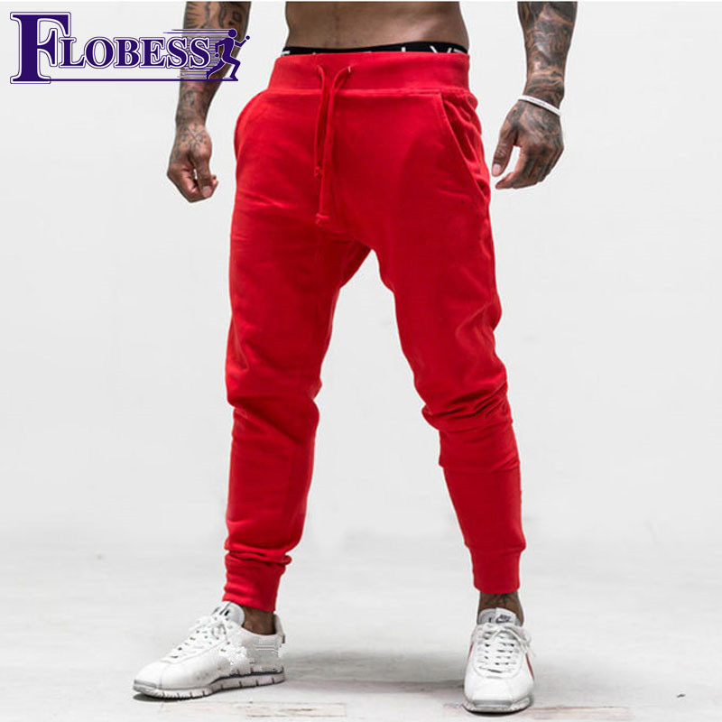 2018 Men Gym Pants Sporting Pant Man Jogger Pants Long Sweatpants Slim Bottom Legging Exercise Running Sportswear Pencil Pants