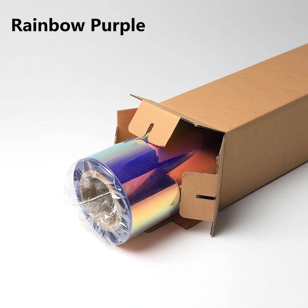 50 см* 100 см Нео хром голографическая теплопередача виниловая футболка виниловая Железная на ПЭТ Материал 20 ''x 39,37'' - Цвет: purple
