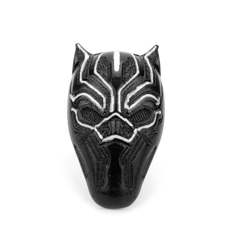 Dongsheng Movie Black Panther Ring Wakanda King 3D Ring Wakanda T'Challa Cosplay Adjustable Figure Rings for Men Jewelry  Props