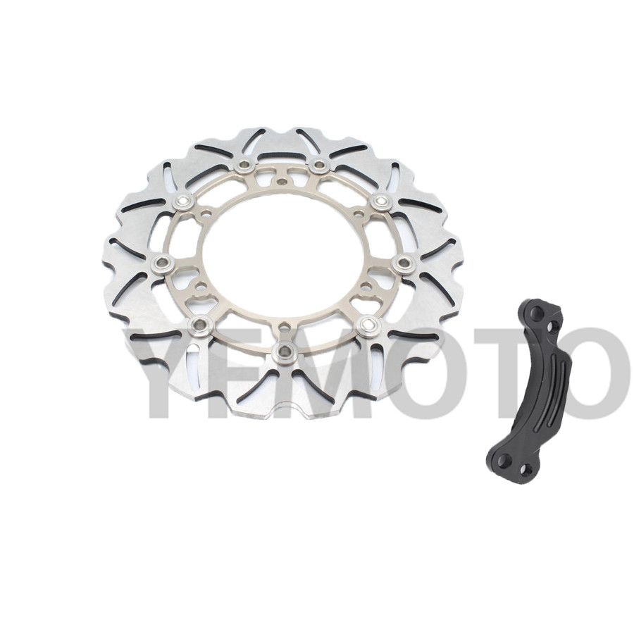 1 Pcs Motorcycle Rear Brake Disc Rotor For TMAX500 TMAX 500 2008- 2013 09 10 11 12  Titanium  Steel Free Shipping 1 pcs motorcycle rear brake disc rotor for tmax500 tmax 500 2008 2009 2010 2011 2012 2013 red free shipping