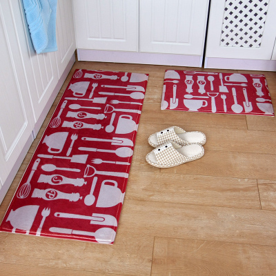 2pcs/set bathroom mat set non slip kitchen doormat modern entrance