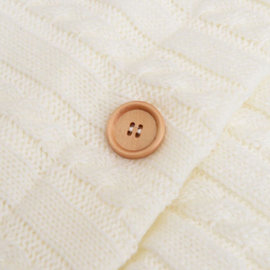 Image 4 - Warm Baby Sleeping Bag Footmuff Infant Button Knit Swaddle Cotton Knitting Envelope  Newborn Swadding Wrap Stroller Accessory