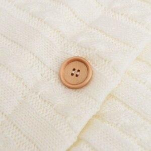 Image 4 - Warm ถุงนอนเด็ก Footmuff ทารกปุ่มถักผ้าฝ้ายถักซองจดหมายทารกแรกเกิด Swaddling Wrap รถเข็นเด็กอุปกรณ์เสริม