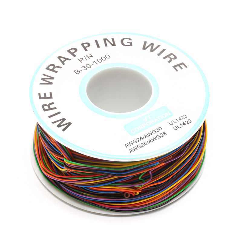 One Roll 8 Colors 30AWG Wire Wrapping Wire, Tinned Copper Solid, PVC ...