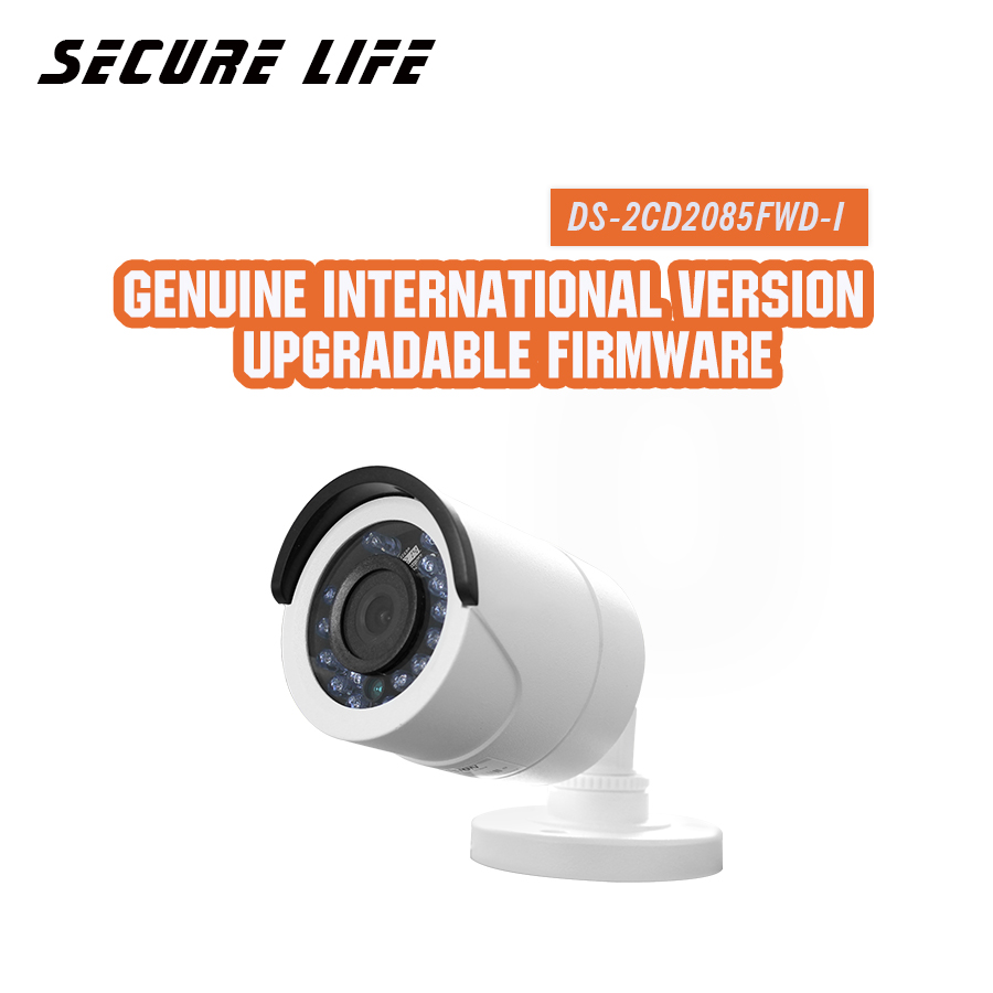 Free shipping English version DS-2CD2085FWD-I 8MP Network mini Bullet CCTV security Camera SD card H.265+ poe IP camera 30m IR english version ds 2cd2035fwd i 3mp mini ultra low light network bullet ip camera poe wdr 30m ir sd card h 265