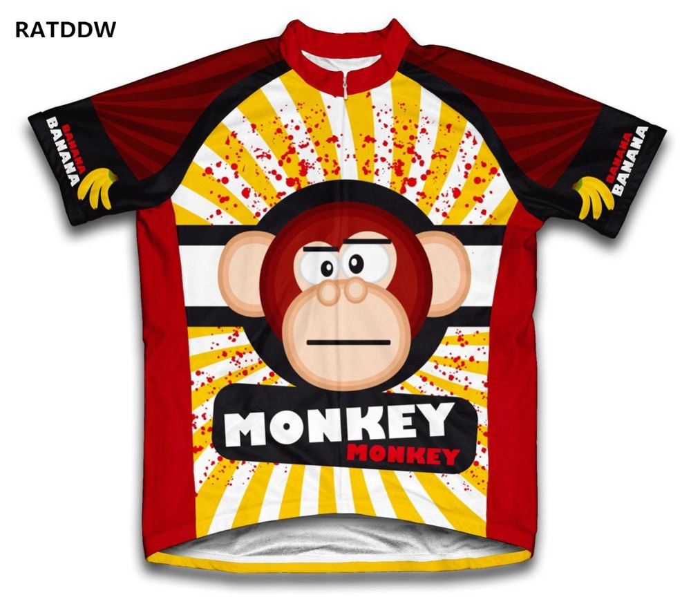 2016 Monkey Style Summer Short Sleeve Cycling Jerseys/Bike Sports Clothing Cycle Bicycle Clothes Ropa Ciclismo