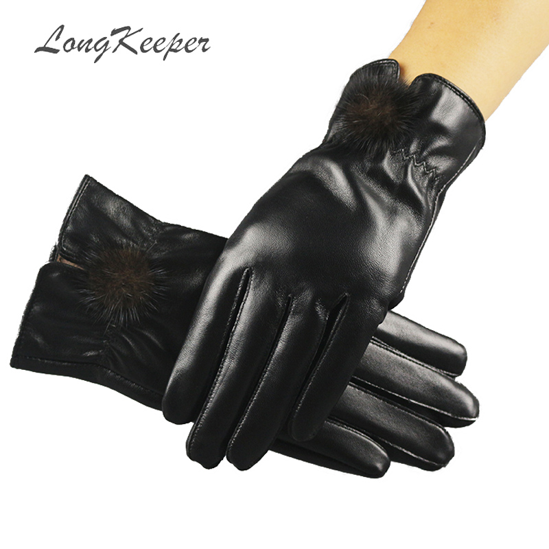Back To Search Resultsapparel Accessories Men Genuine Leather Gloves Fashion Winter Full Finger Cashmere Gloves Women Warm Fur Outdoor Riding Velvet Black Guantes G315