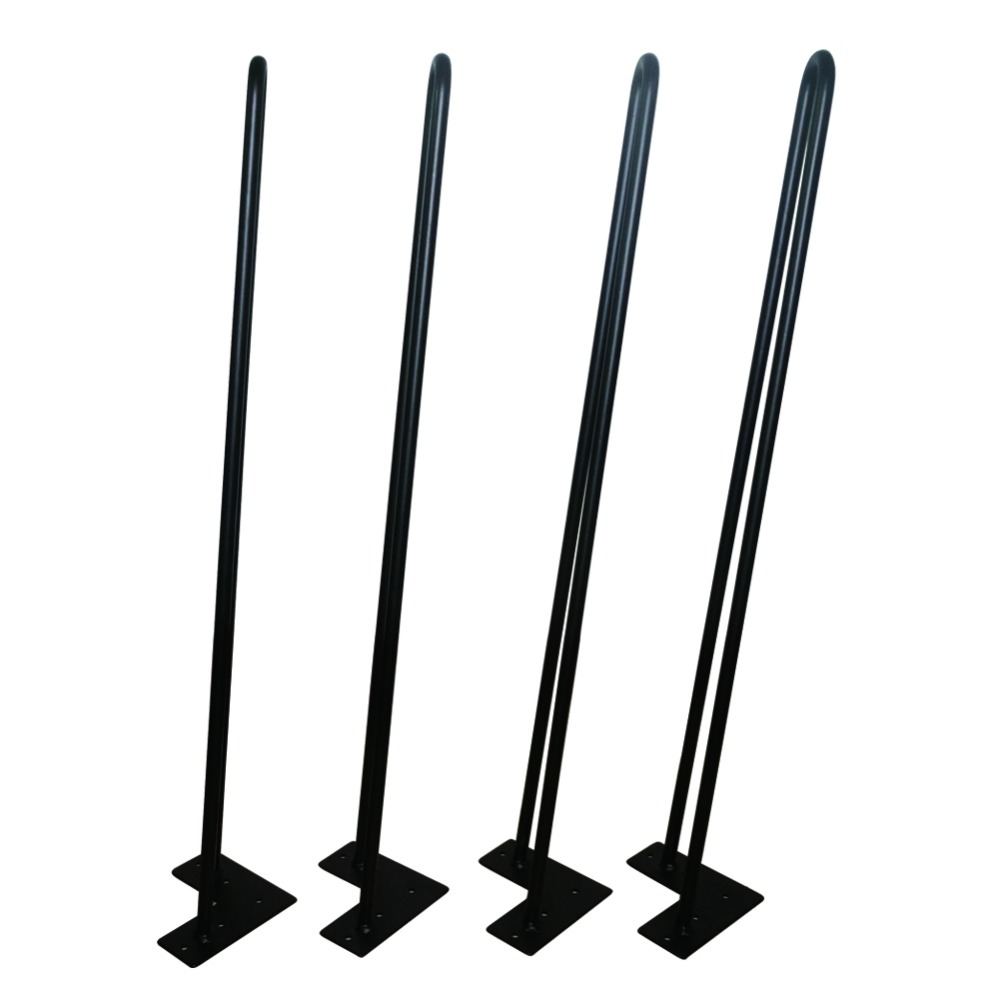 711MM Black Hairpin Legs,2 ROD *3/8 Dia,Mid Century Modern style,Set of 4,Metal Furniture Feet for Entry Tables, Dining Tables page turners 2 you don t know her