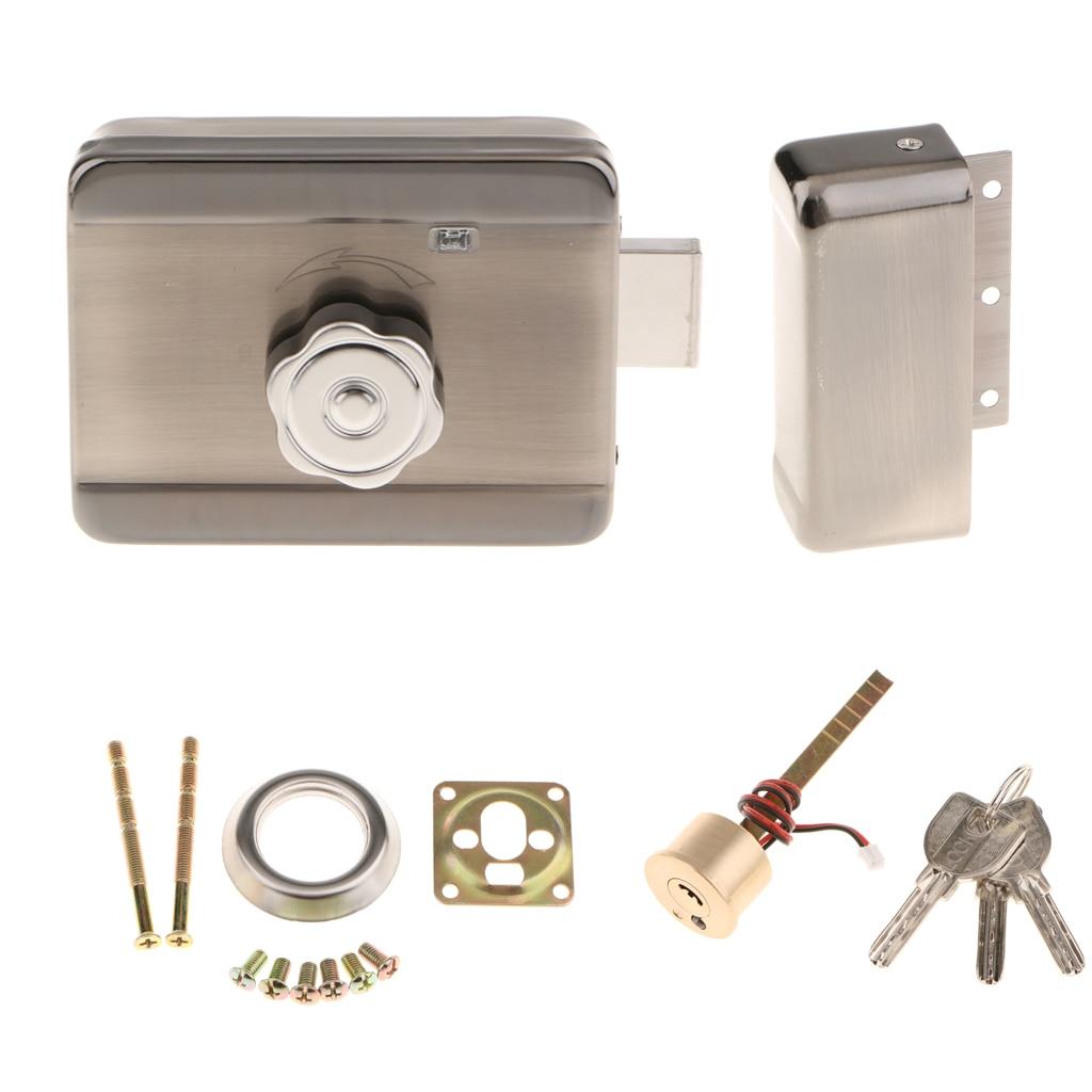 Serrure de porte électrique MagiDeal serrure de porte motorisée pour système de contrôle d'accès de sécurité de sonnette de téléphone de porte vidéo