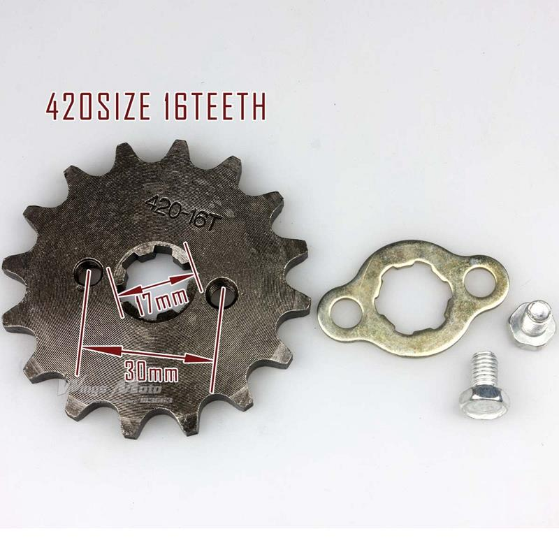 Wingsmoto Sprocket Front 428-13T 17mm Motorcycle ATV Dirtbike