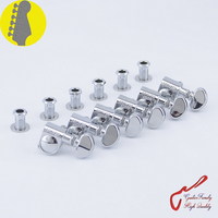 1 Set 6 In Line Genuine Grover Guitar Machine Heads Tuners 1 18 Chrome Without Original