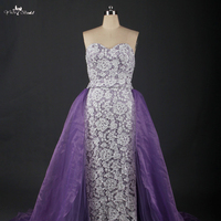 LZ166 Modern Women Dress Dress Weddingdress Organza Bridal Gown Lavender Purple Wedding Dresses