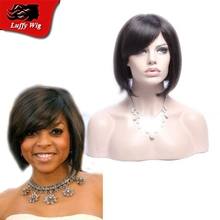 7A Human Hair Short Bob No Lace Wigs Brazilian Glueless Full Lace Wig/Lace Front Human Hair Bob Wigs With Side Part Baby Hair