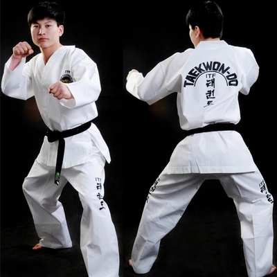 ITF Child Adult Suitable White Suits HOT SALE  Taekwondo Dobok Professional Uniform Exquisite Embroidery 55% Cotton Comfortable