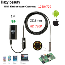 8mm Lens Wifi Android Iphone Endoscope Camera 1M 2M Waterproof Snake Tube Pipe Borescope 720P Iphone Camera Endoscope 1280*720