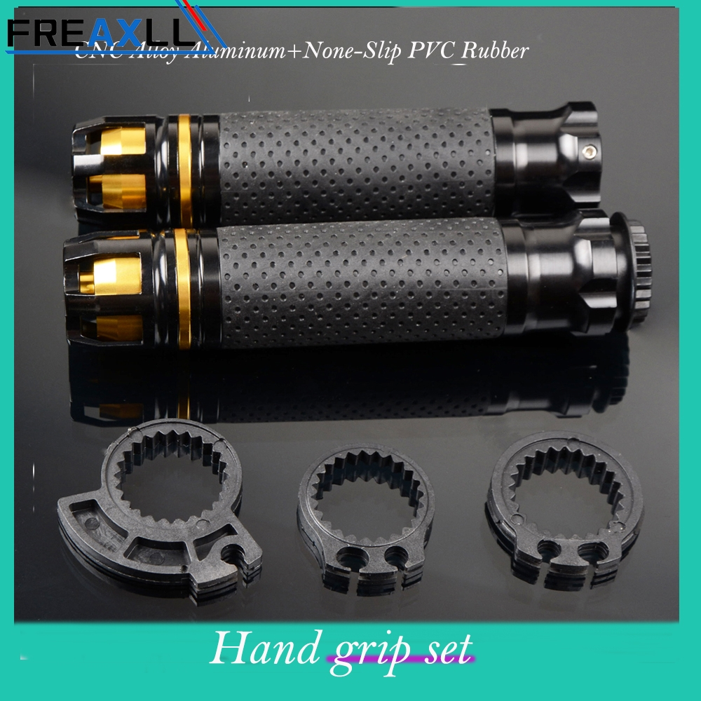 FREAXLL CNC 7/8'' 22MM Motorcycle Handle Bar Gas Throttle Hand Grips For Honda Shadow 750 CBR