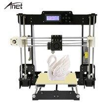Анет A8 широкоформатной печати Размеры точность RepRap Prusa i3 DIY 3D-принтеры комплект с нити и карты