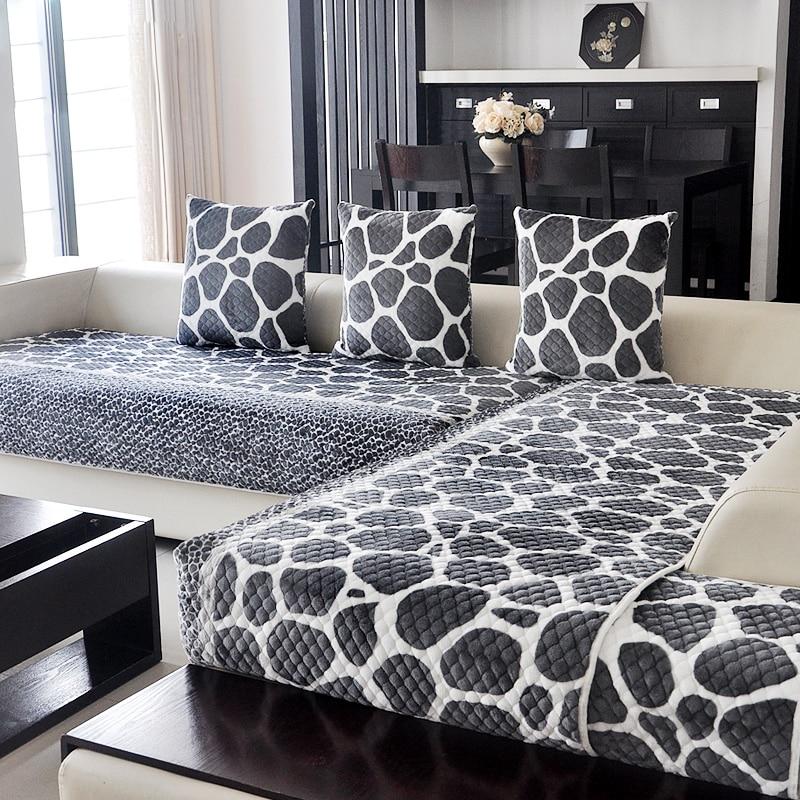 High-grade European style Thicker Flannel Sofa mats sofa cushion four seasons sofa cover modern Anti-slip sofa towel