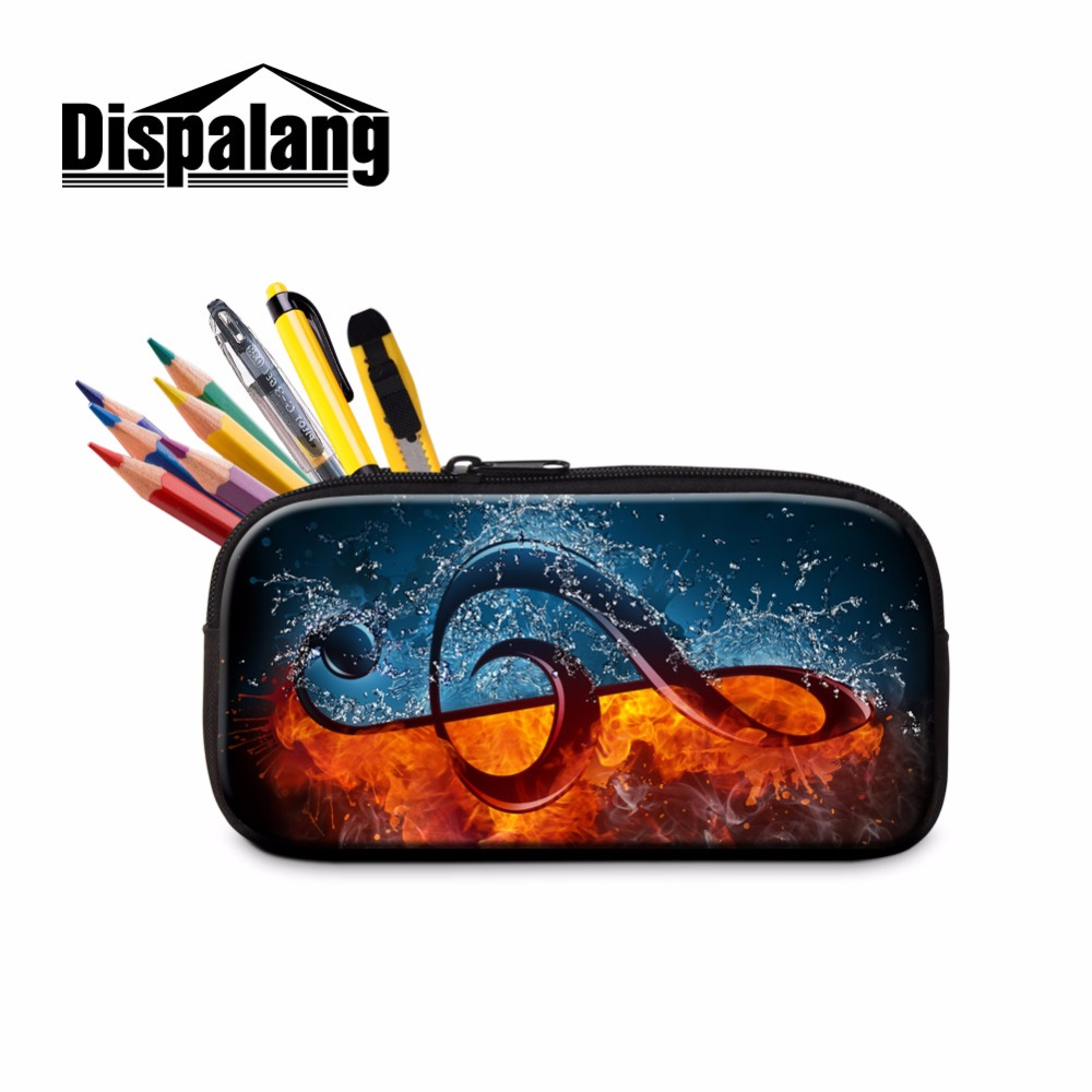 купить Dispalang Musical Note Print Cosmetic Cases Pretty Zipper Pencil Bag for Chidren School pencil Case Pen Holder for Student Girls по цене 541.94 рублей